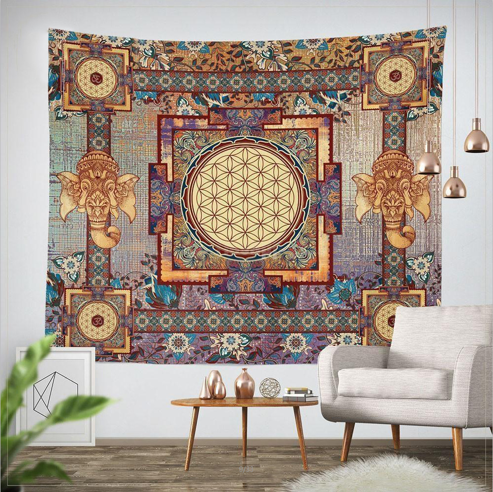 Indian-Mandala-Tapestry-203x153cm-Cotton-Belgium-Hippie-Wall-Hanging-Elephant-Tapestries-Boho-Bedspread-Beach-Towels-Table