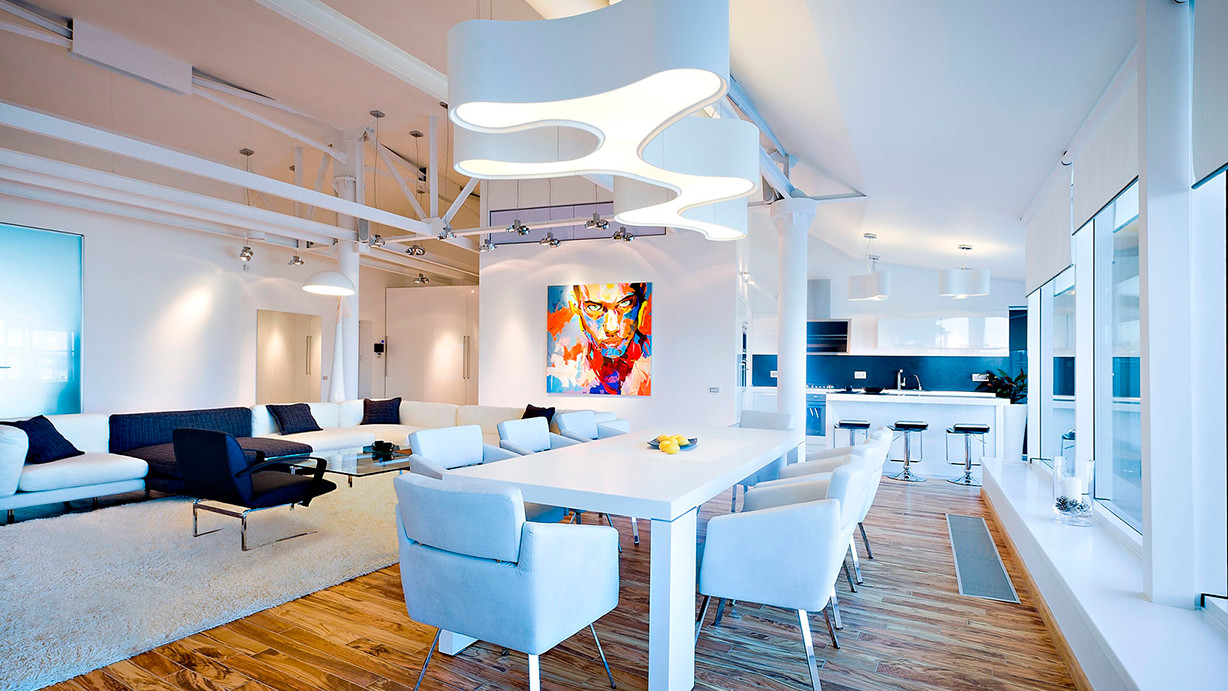 white-dining-room-chandelier-favorable-studio-apartment-with-loft
