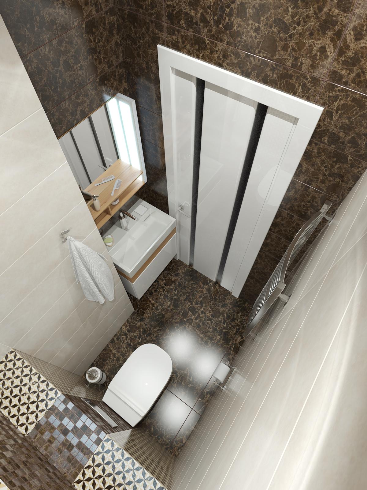 дизайн интерьера ванной нео классика (2)