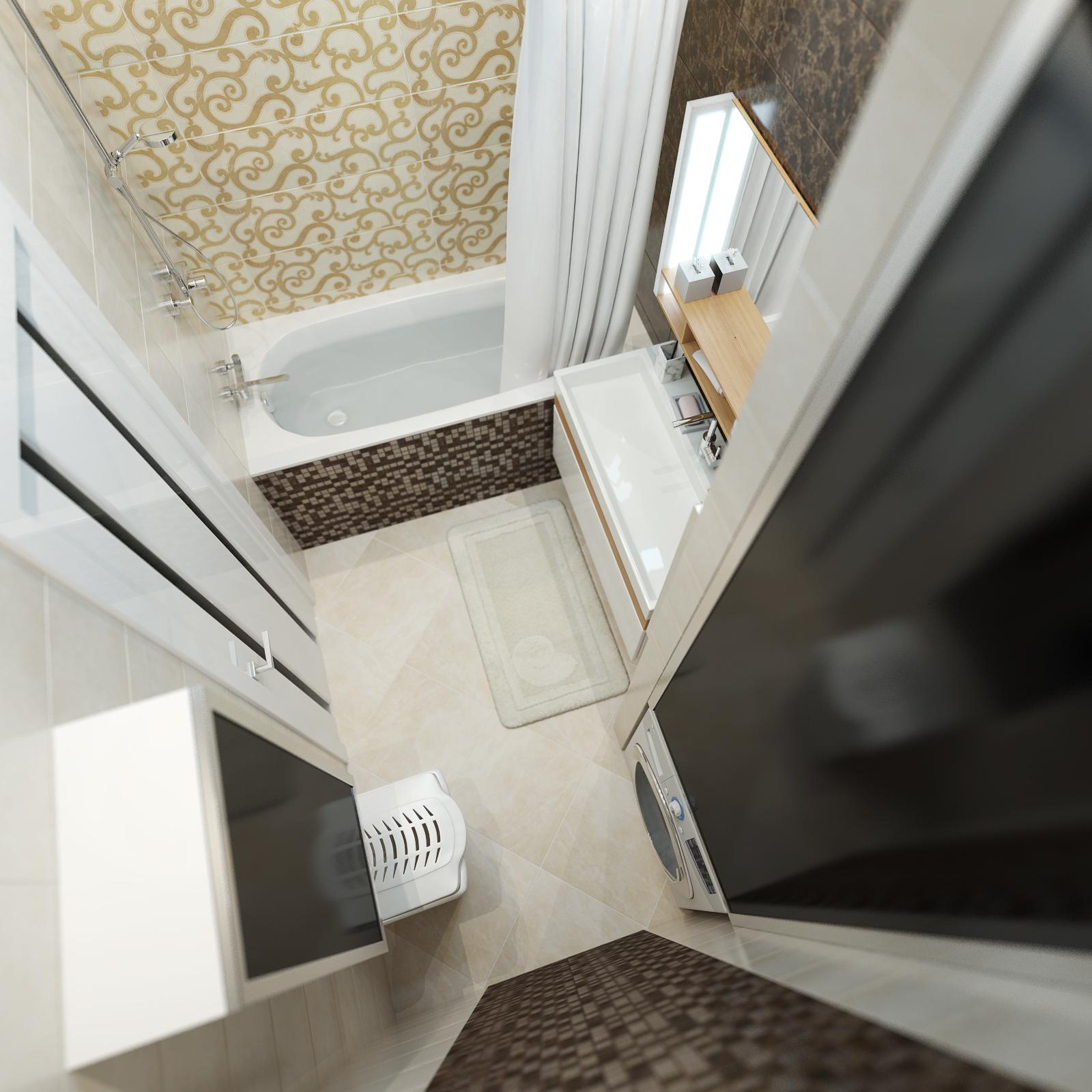 дизайн интерьера ванной нео классика (3)