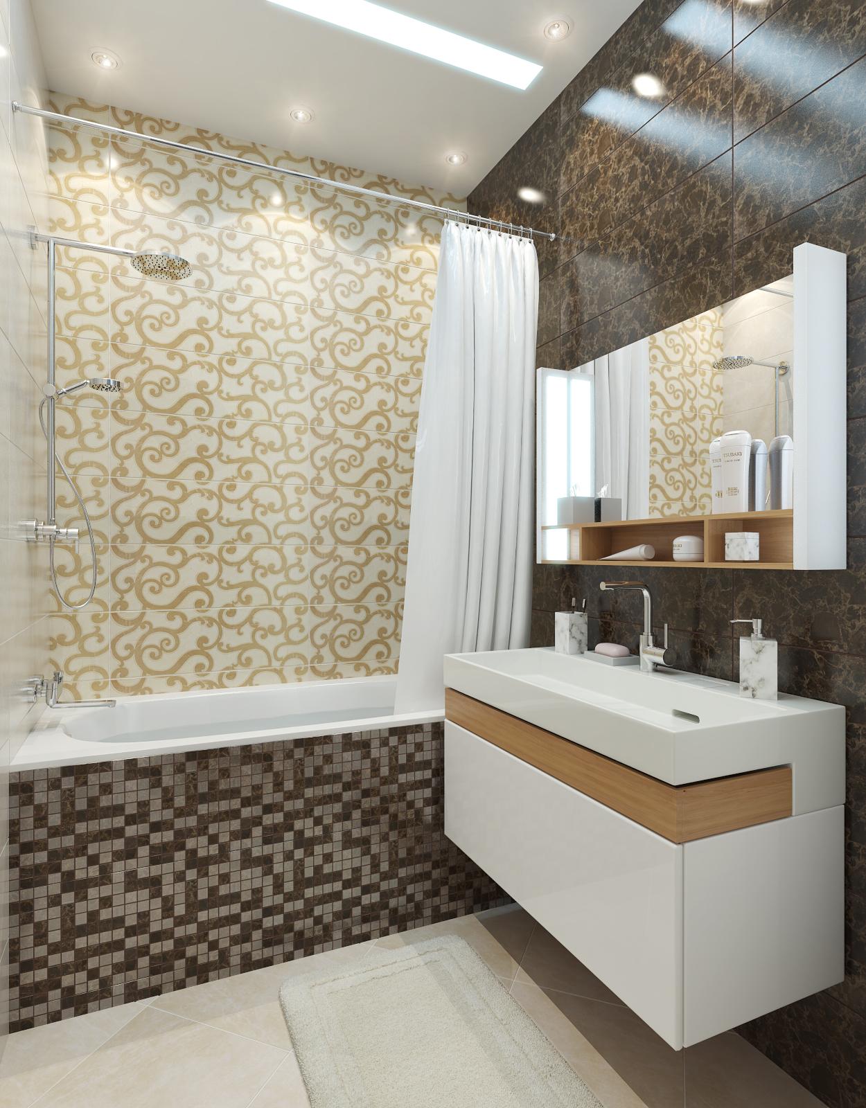 дизайн интерьера ванной нео классика (5)