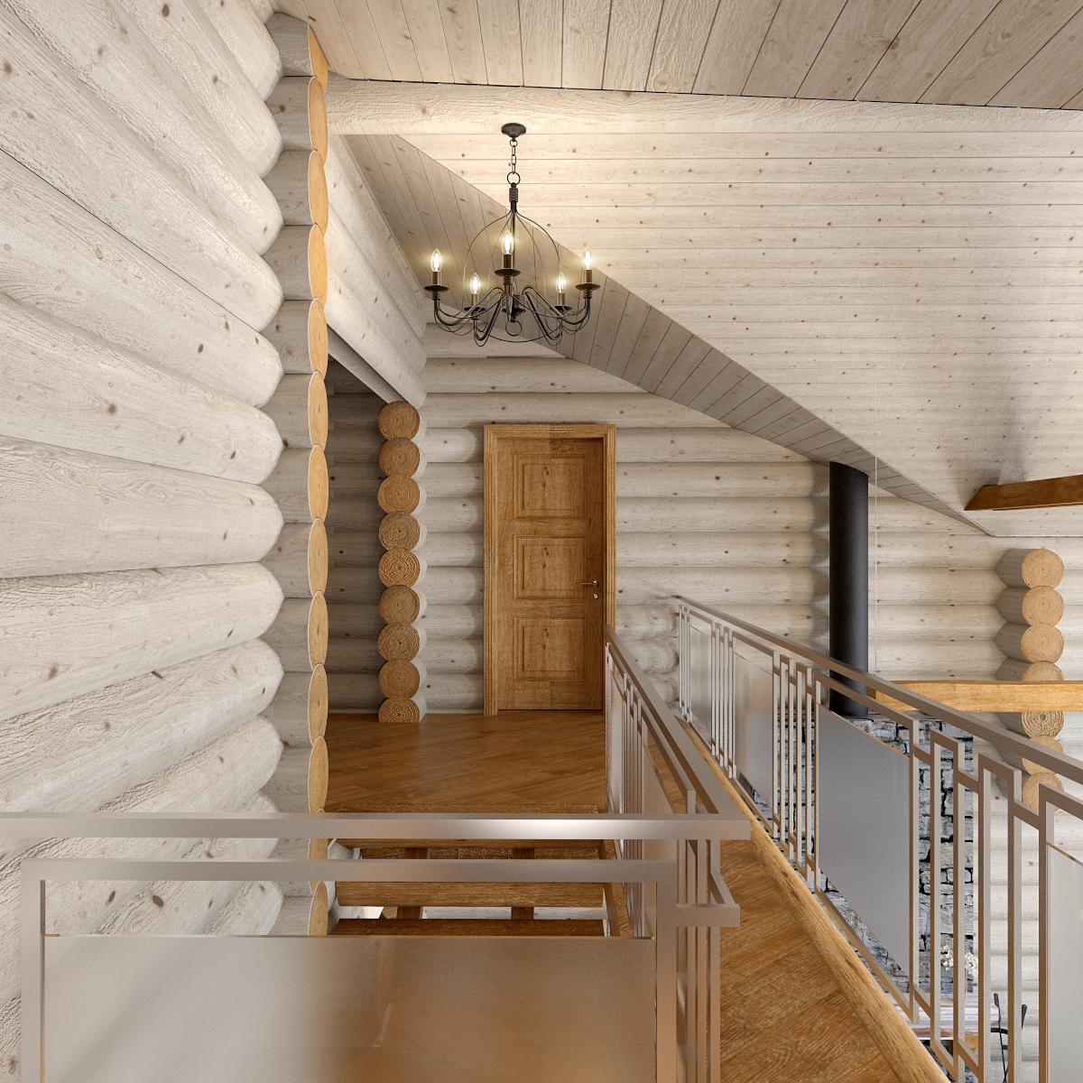 дизайн интерьера деревянного дома (1)