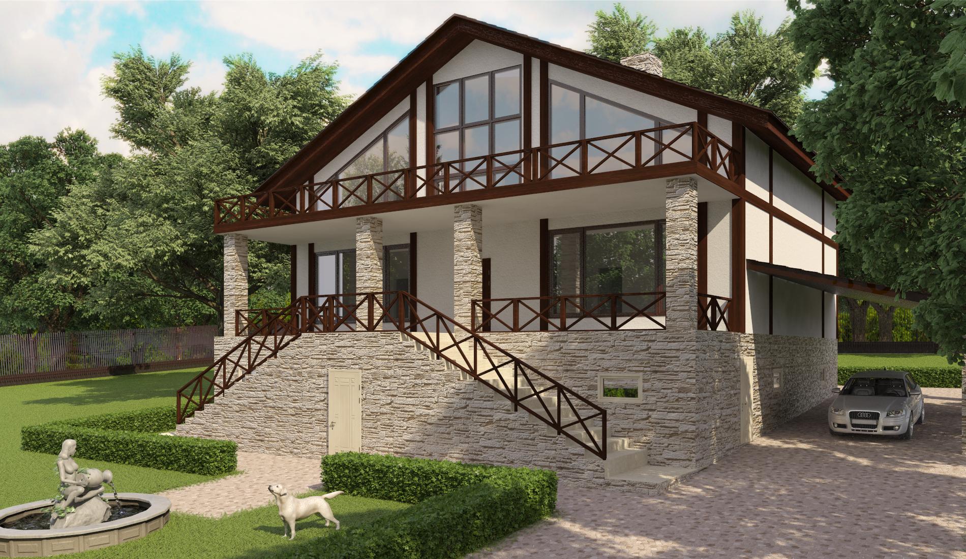 дизайн интерьера деревянного дома (5)